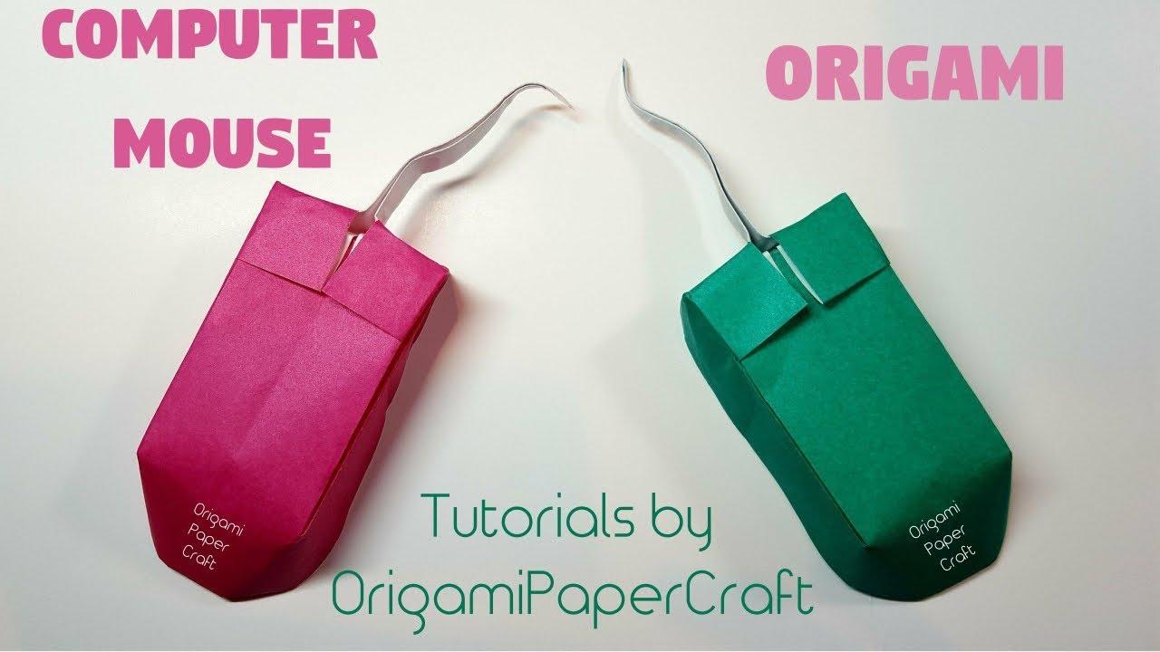 how to make an origami computer mouse  chu u1ed9t m u00e1y t u00ednh   ud83d uddb1 ufe0f