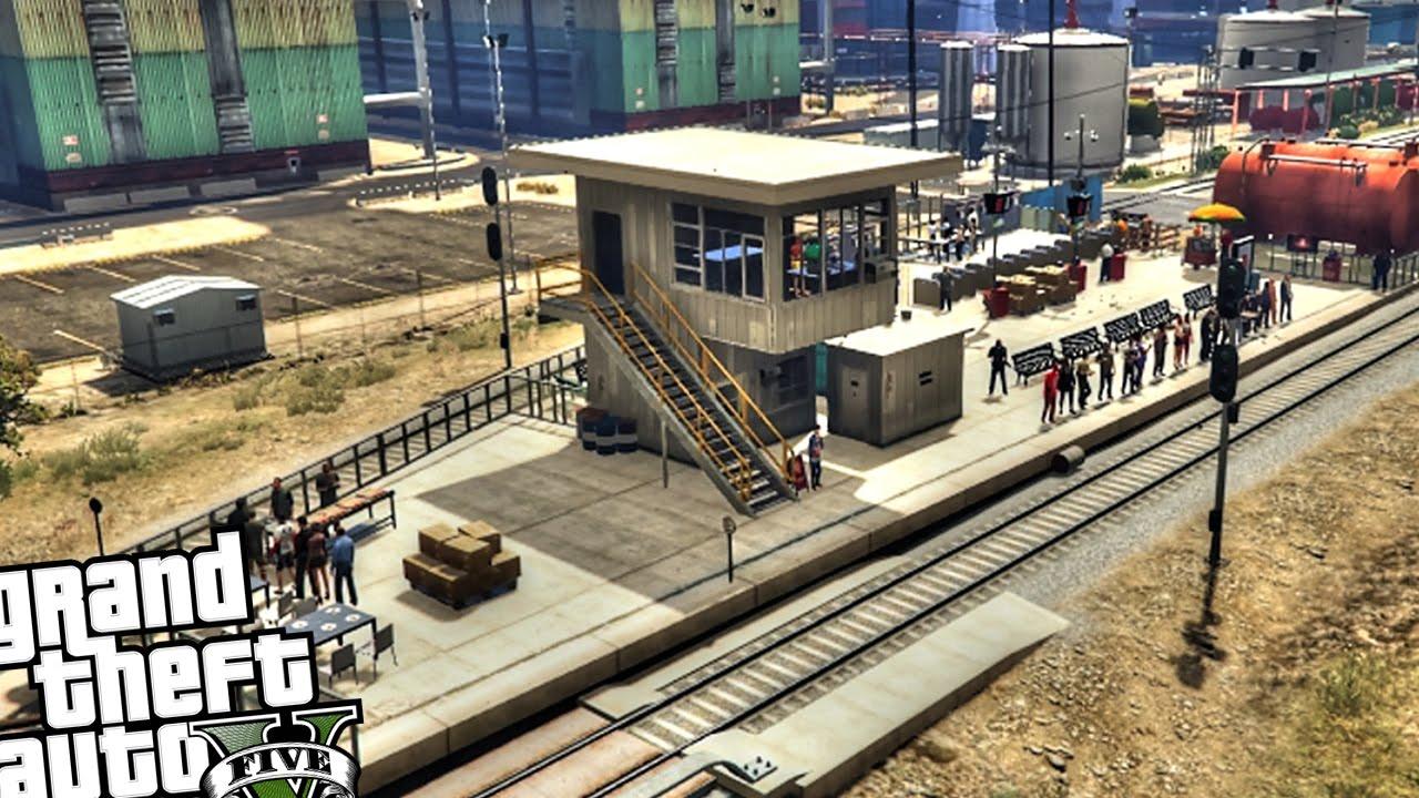 Los Santos Custom Railway Station - GTA 5 PC MOD - YouTube