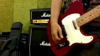 Squier Telecaster upgraded with Fender Tele Deluxe MIJ