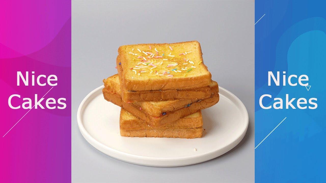 Marshmallow Sandwich Cake For Breakfast #Shorts