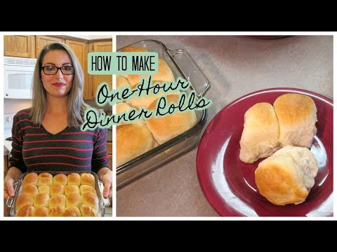 How To Make - ONE HOUR DINNER ROLLS - Quick & Easy Yeast Rolls