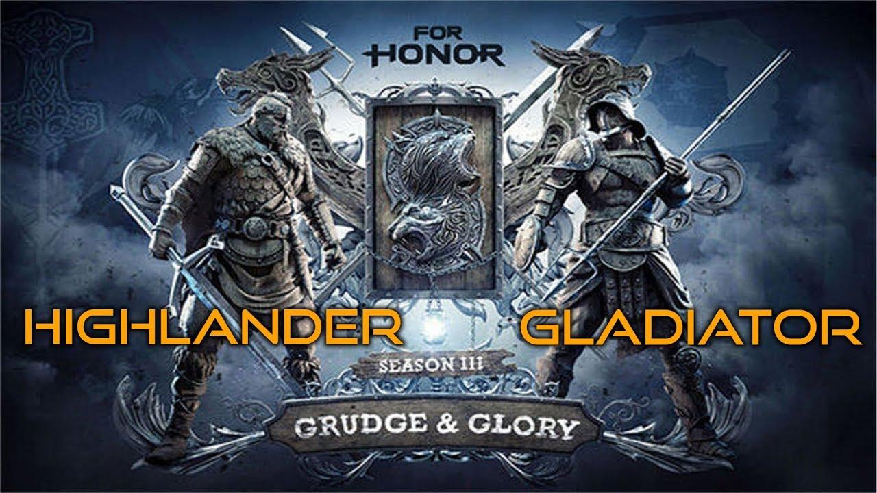 For honor season 3 teaser highlander and gladiator new heroes gameplay teaser youtube - When is for honor season 6 ...