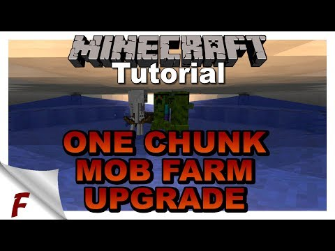 ✅ Minecraft 1 Chunk Fully Automatic Farm Complex Tutorial Mob Farm Upgrade