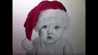 Speed drawing: Santa Baby