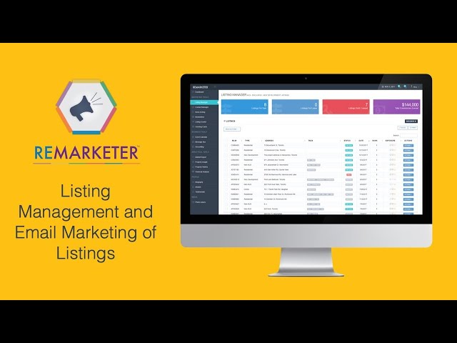 REMARKETER Training - Listings Management & Email Marketing of Listings