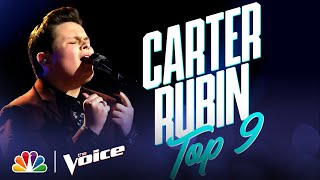 "Carter Rubin Sings ""Rainbow Connection"" from The Muppet Movie - The Voice Live Top 9 Performances"