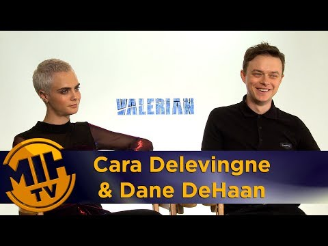 Cara Delevingne & Dane DeHaan Valerian and the City of a Thousand Planets Interview