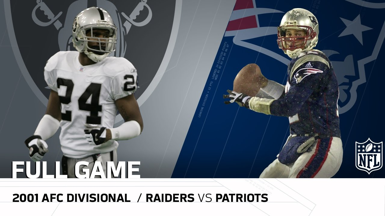 2001 AFC Divisional Round: Raiders vs. Patriots |