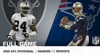 "2001 AFC Divisional Round: Raiders vs. Patriots | ""Tuck Rule Game"" 