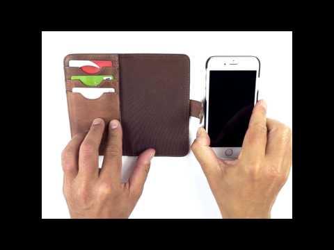 Nic & Mel Andrew Bookcase iPhone 7 Dark Cognac