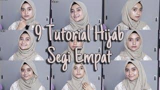 58 Tutorial Hijab Segi Empat Simple Pesta Modis Mudah