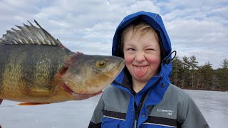 Winter Camping, Ice Fishing & Family Adventure in Maine