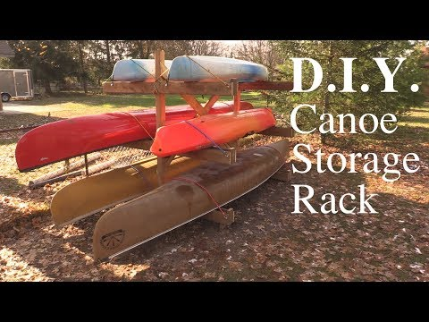 Canoe Storage Rack D.I.Y.