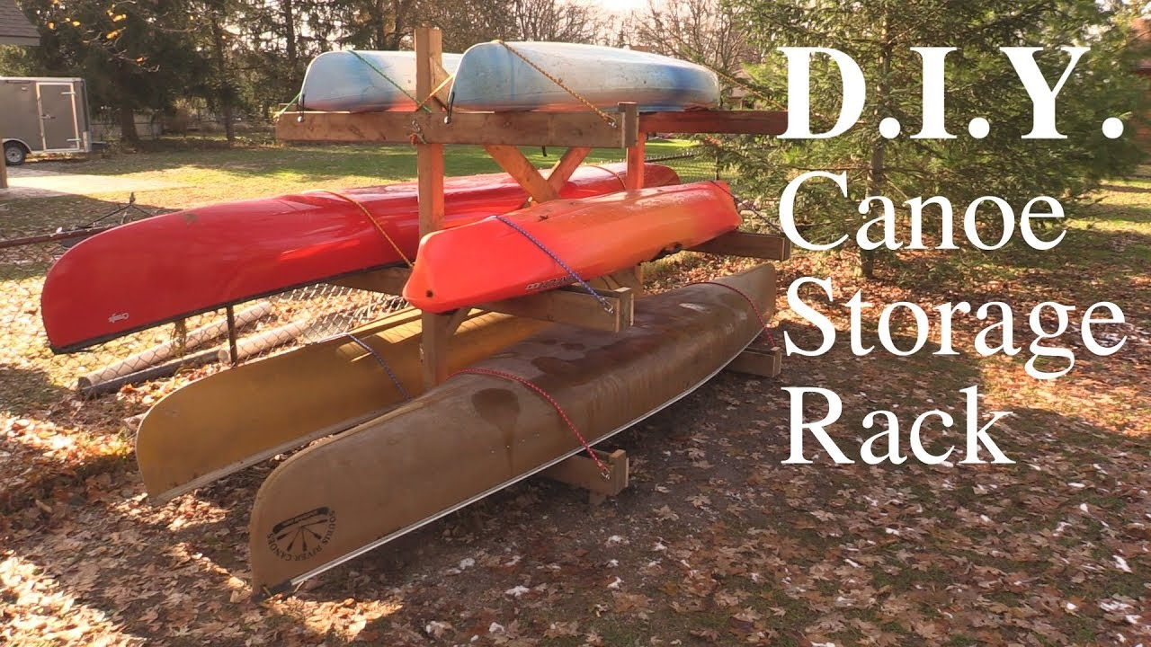 High Quality Canoe Storage Rack D.I.Y.