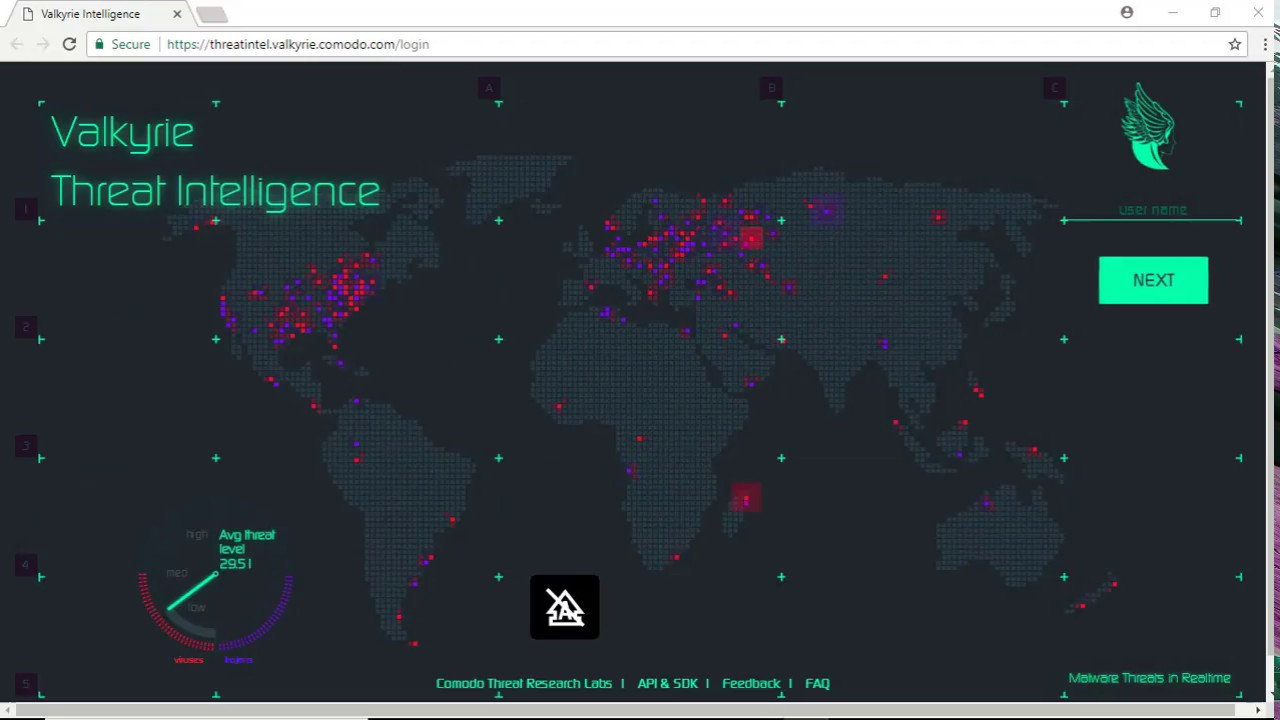 Valkyrie Threat Intelligence Map