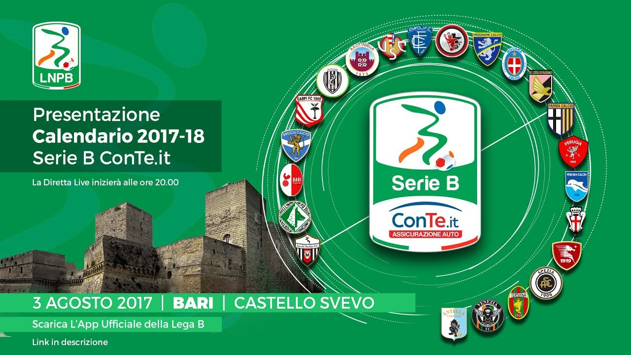 Calendario Lega Pro B.Serie B Conte It Presentazione Calendario 2017 2018 Youtube