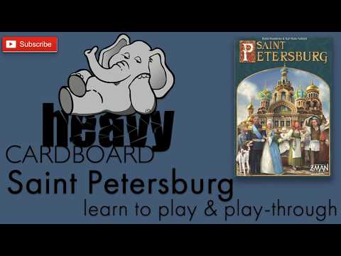 Saint Petersburg 4p Play-through, Teaching, & Roundtable discussion by Heavy Cardboard