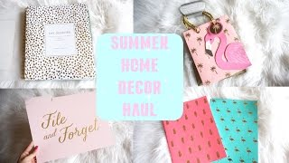 SUMMER HOME DECOR HAUL: Homegoods, Target, TJ Maxx
