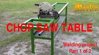 Chopsaw Table Project - Part 1 of 2