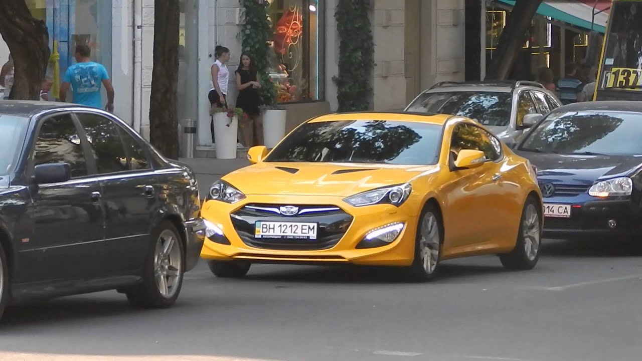 Yellow Hyundai Genesis Coupe in Odessa - YouTube