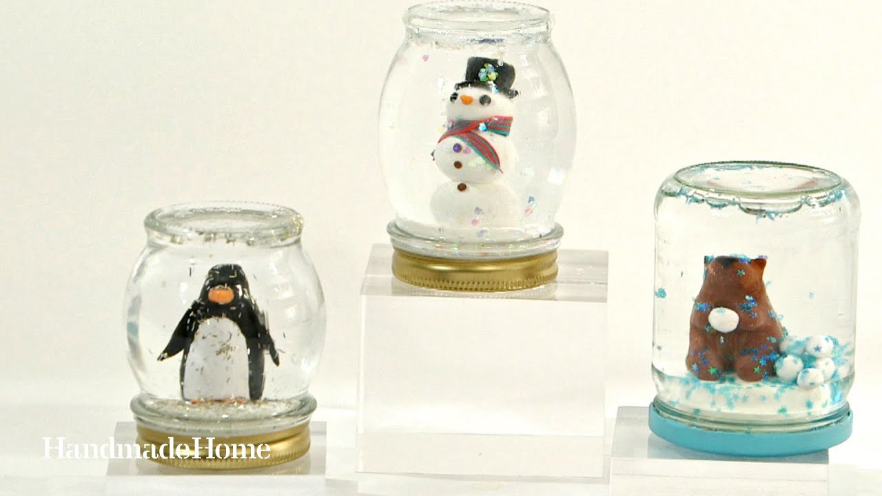 How To Make A Homemade Snow Globe Martha Stewart Youtube
