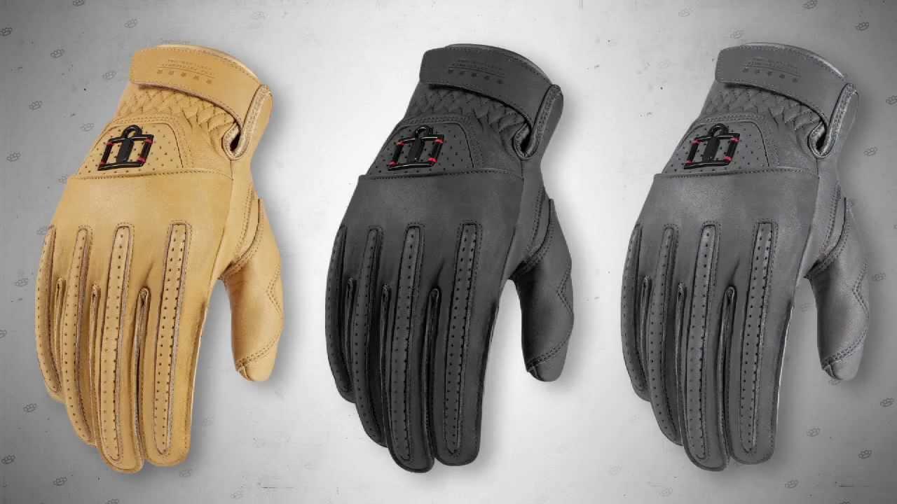 Icon 1000 Rimfire Leather Gloves #