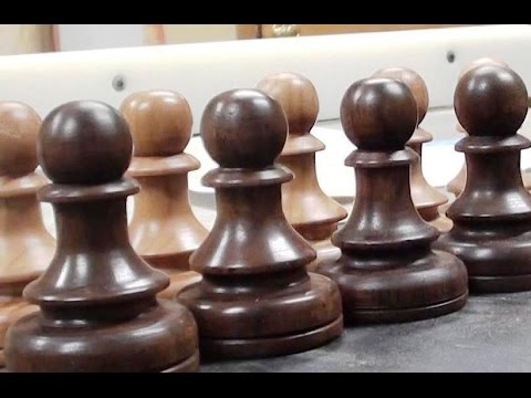Woodturning a Chess Set - The Pawns