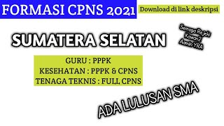 Formasi Cpns 2021 Sumatera Selatan