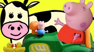 Video Peppa Pig Nursery Rhymes | Old MacDonald Had A Farm | Peppa & Family of toys on the farm download MP3, 3GP, MP4, WEBM, AVI, FLV Juli 2018
