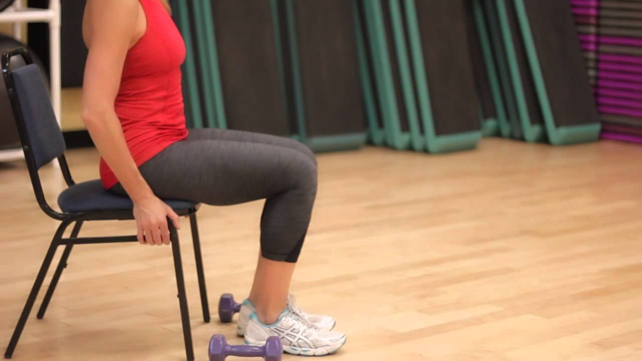 Beginner Chair Leg Exercises & Beginner Chair Leg Exercises - YouTube