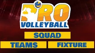 Pro Volleyball League Teams, Squad , Fixture & Telecast  details | Sports India Live