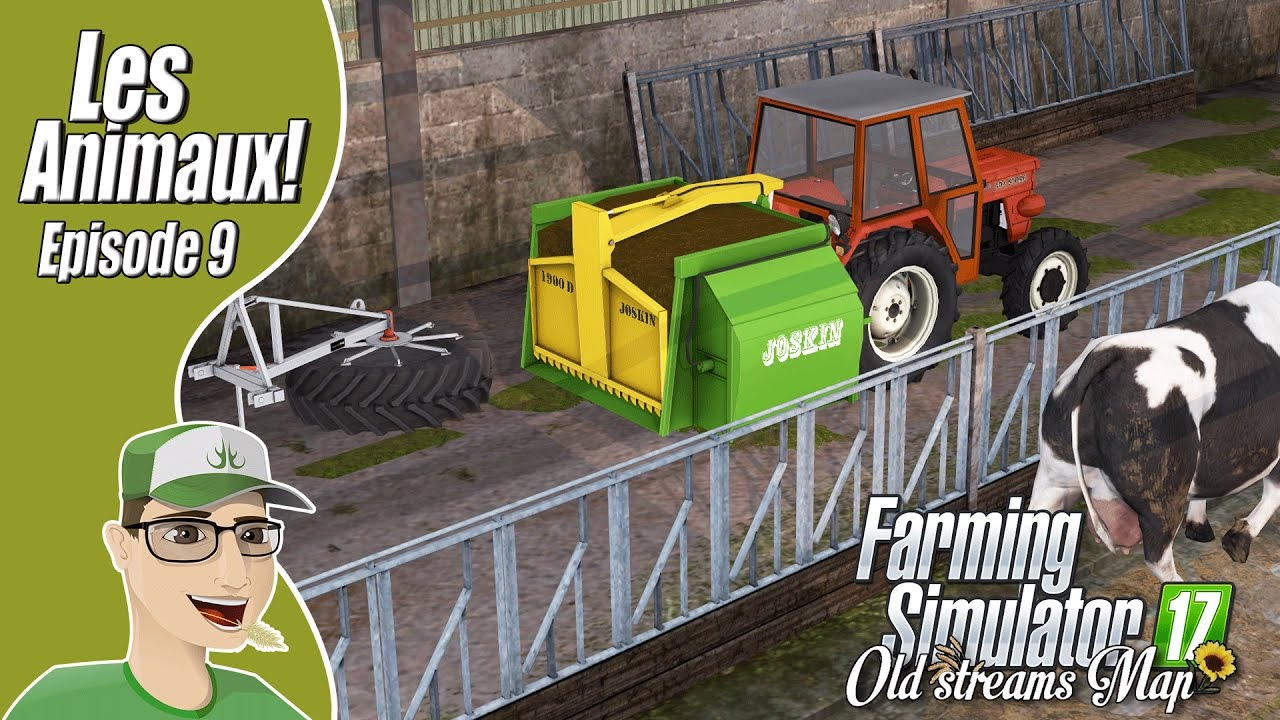 farming simulator 17 ep9 old streams map les animaux fr youtube. Black Bedroom Furniture Sets. Home Design Ideas