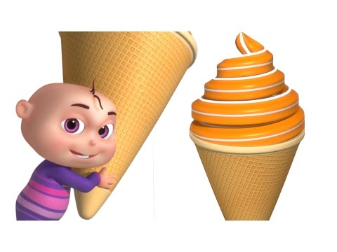 Colors Learning With Ice Cream | 3D Ice Cream For Babies | VG Fun Colors Series