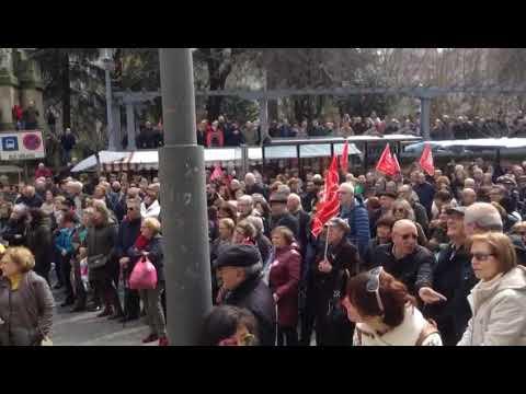 Movilización de pensionistas en Ourense