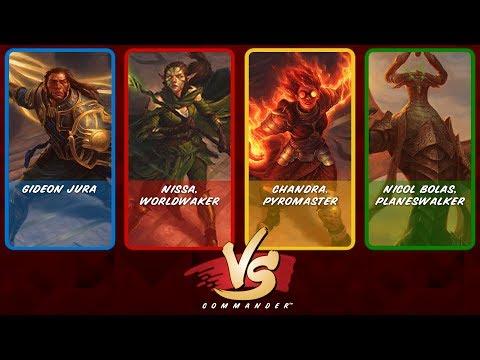 Commander VS Archenemy: Gideon, Nissa, Chandra vs Nicol Bolas