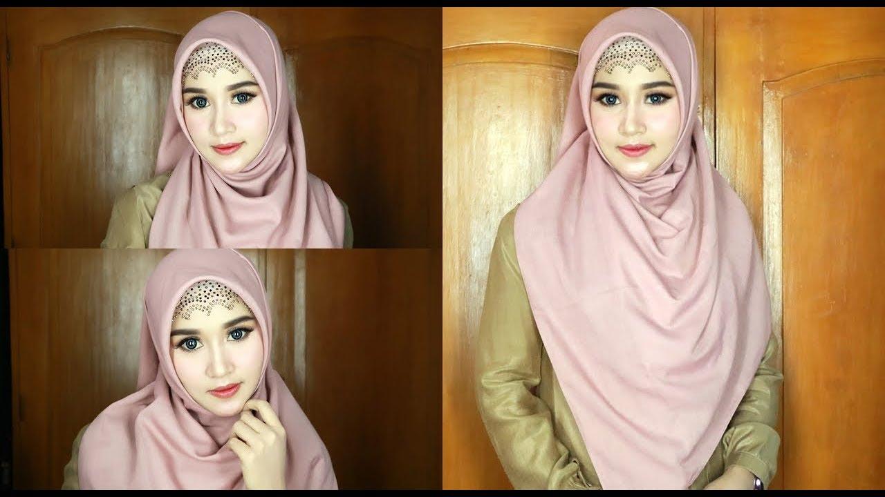 Cara Tutorial Hijab Simple Hijaber Segi Empat Menutup Dada 1 Youtube