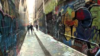 Street Art (Graffiti) - Union Lane, Melbourne. Steadicam Walking Tour