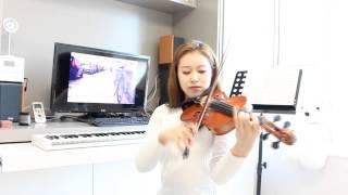 The way to School violin solo