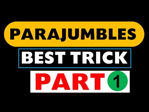 Parajumbles Best Trick 1 (IBPS /SBI / PO / Clerk / LIC / Bank Exams Etc)