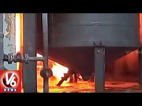 Fire Accident In Sheetal Refineries Private Limited At Rajendranagar | Hyderabad | V6 News