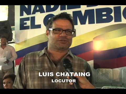 LUIS CHATAING FELICITA AL ALCALDE LEDEZMA