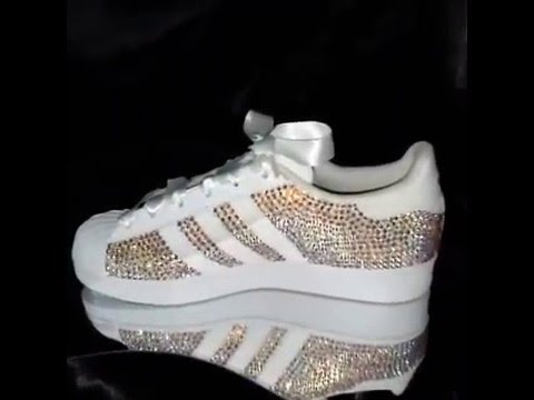 Swarovski Adidas Superstars by ShowShoeMe - YouTube 6a37280caf8c