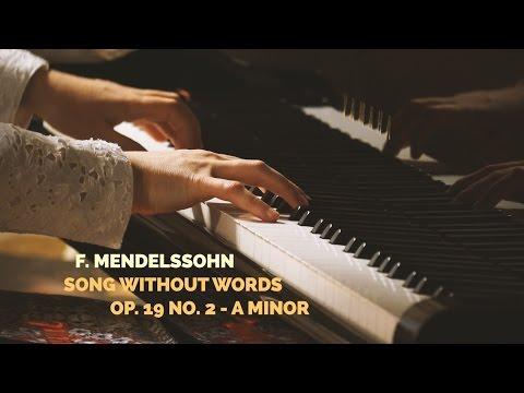 F. Mendelssohn - Romance sans paroles op. 19 no. 2 en la mineur (piano)