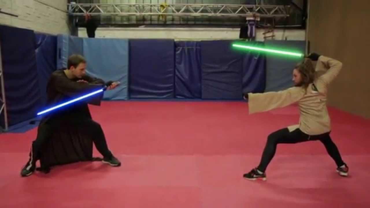 fight concept for star wars lightsaber duel impulse action