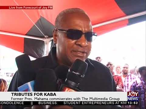 Former Pres  Mahama commiserates with The Multimedia Group on JoyNews 22 11 17
