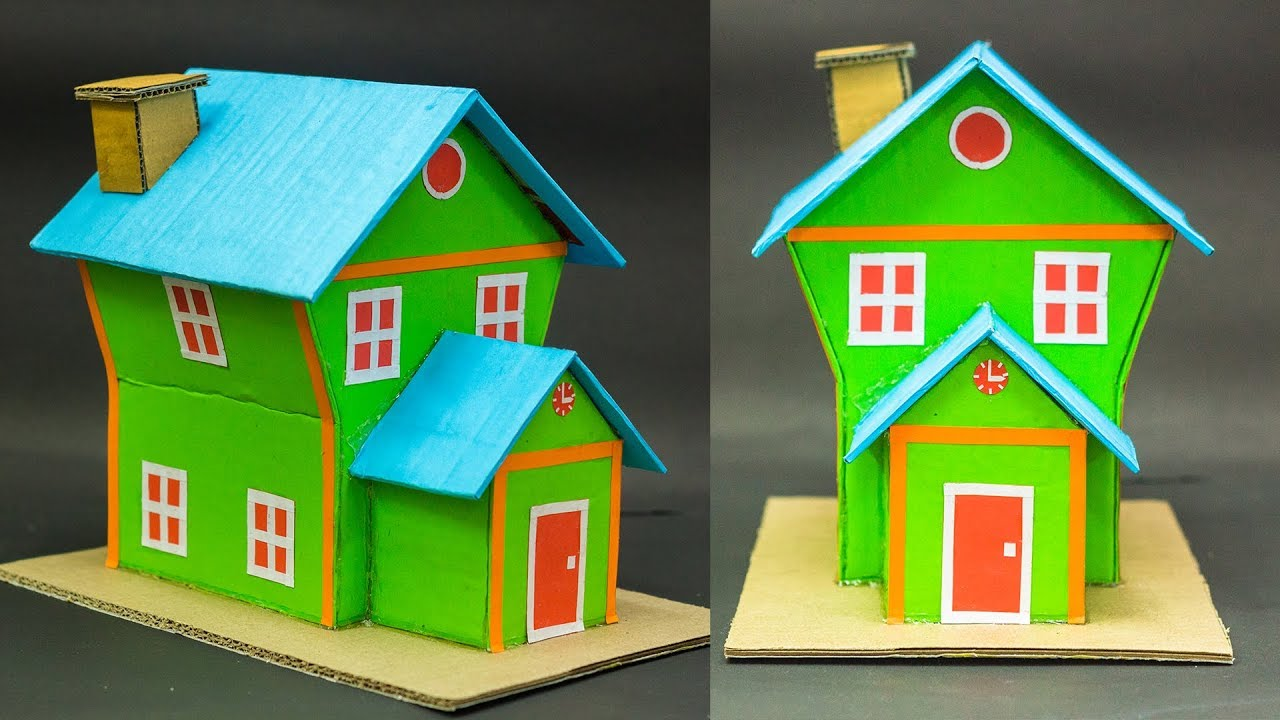 How To Make A Cardboard House For School Project