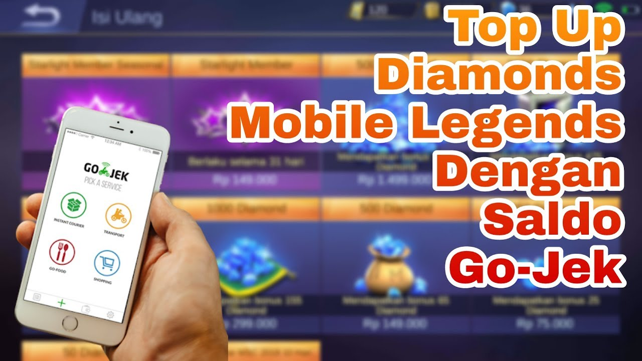 Cara Beli Diamonds Mobile Legends Dengan Gojek Youtube