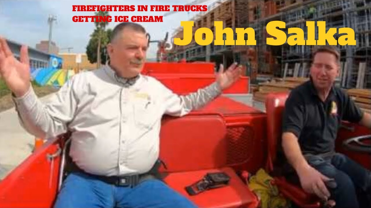 Firefighters in Fire trucks getting Ice Cream - Salka Part 1 (Double Double)