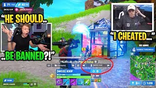 I reacted to CHEATERS playing in the Fortnite World Cup FINALS... (I spectated them)