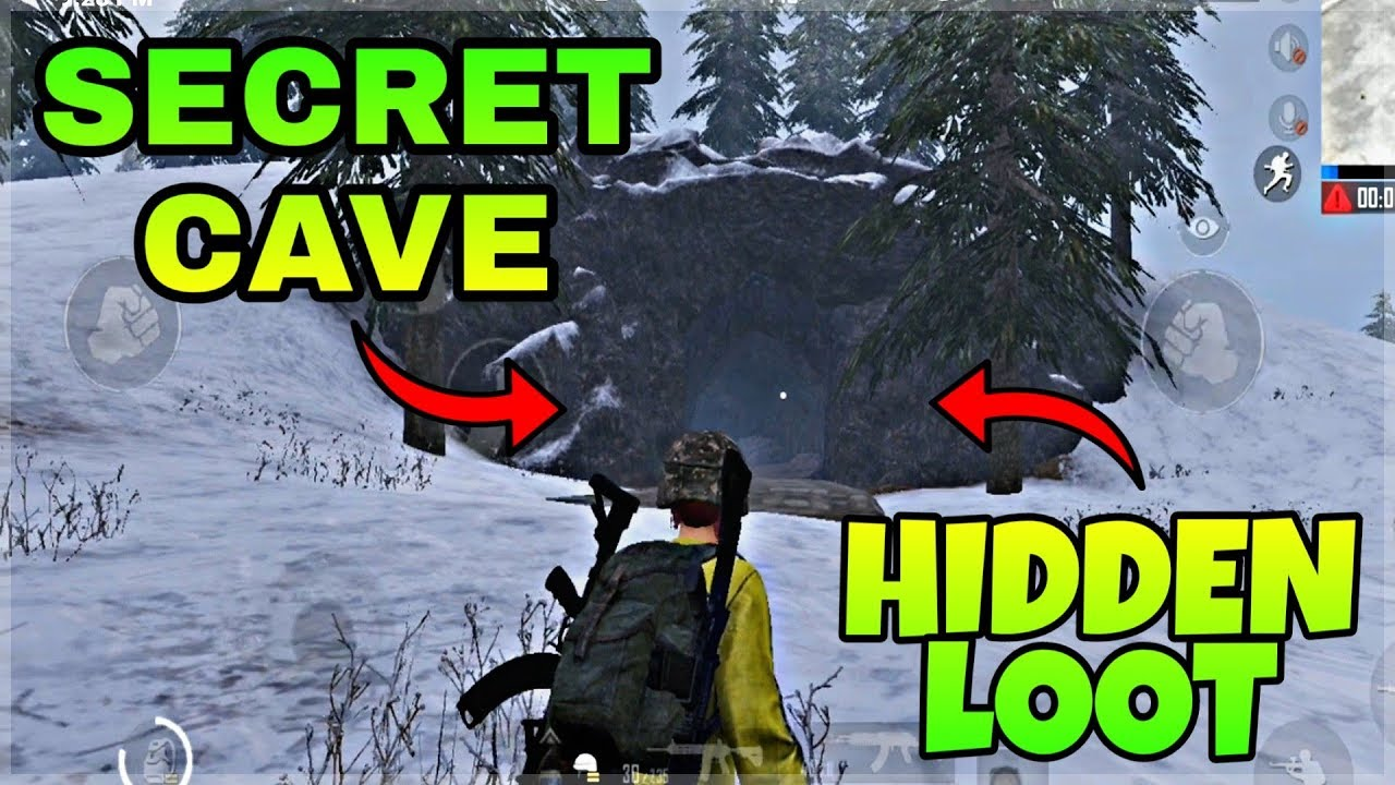Pubg Mobile Secret Cave Location In Vikendi Hidden Loot Spot In Snow Map Youtube